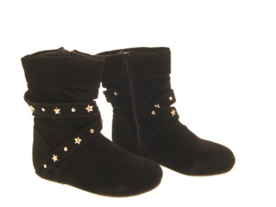 Children Boots  Shoes on Childrens Girls Stud Winter Boots Shoes Black Size 4 12   Ebay