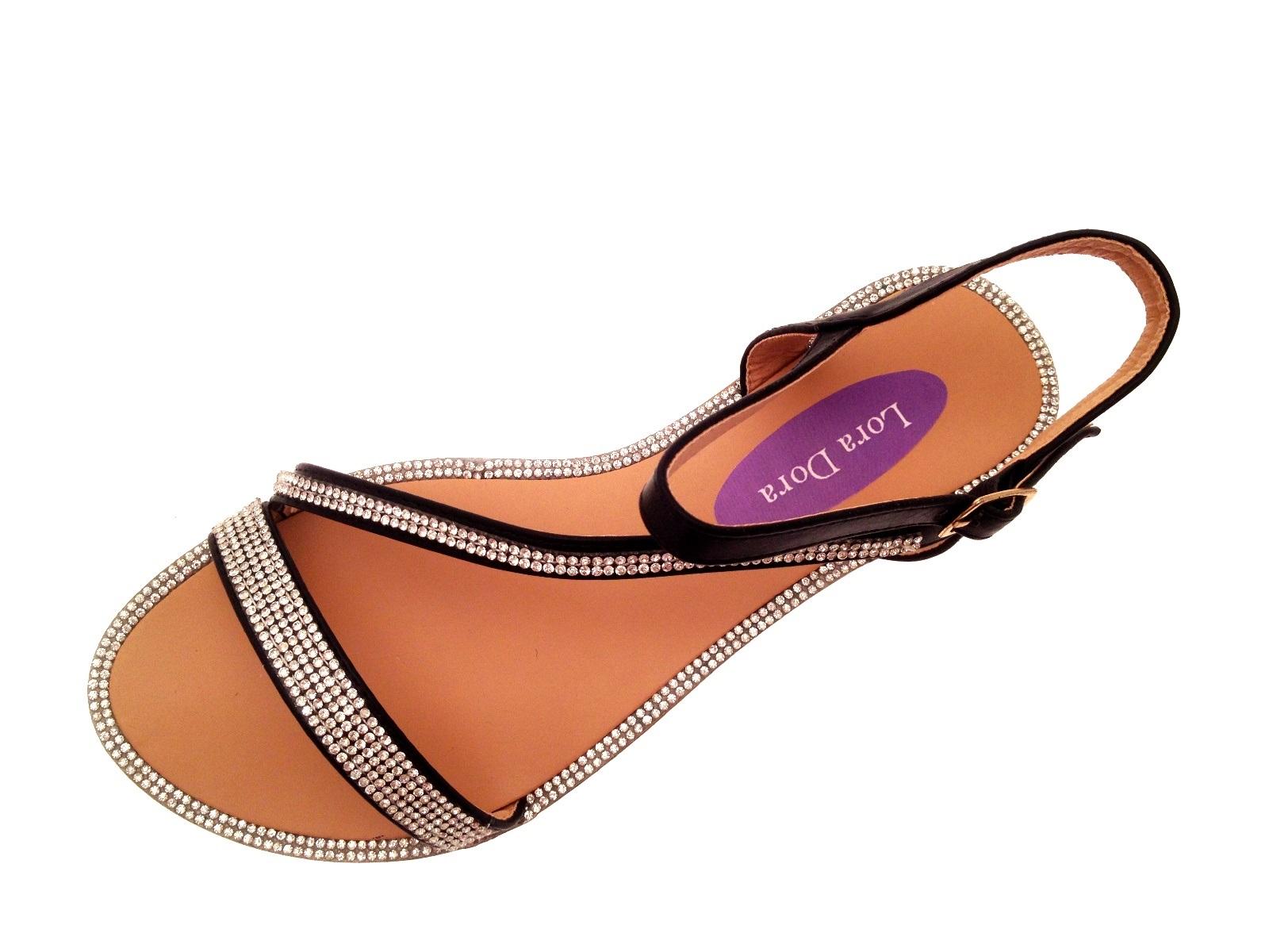 Womens Flat Diamante Summer Sandals Strappy Evening Shoes Ladies Girls Size 3-8 | EBay