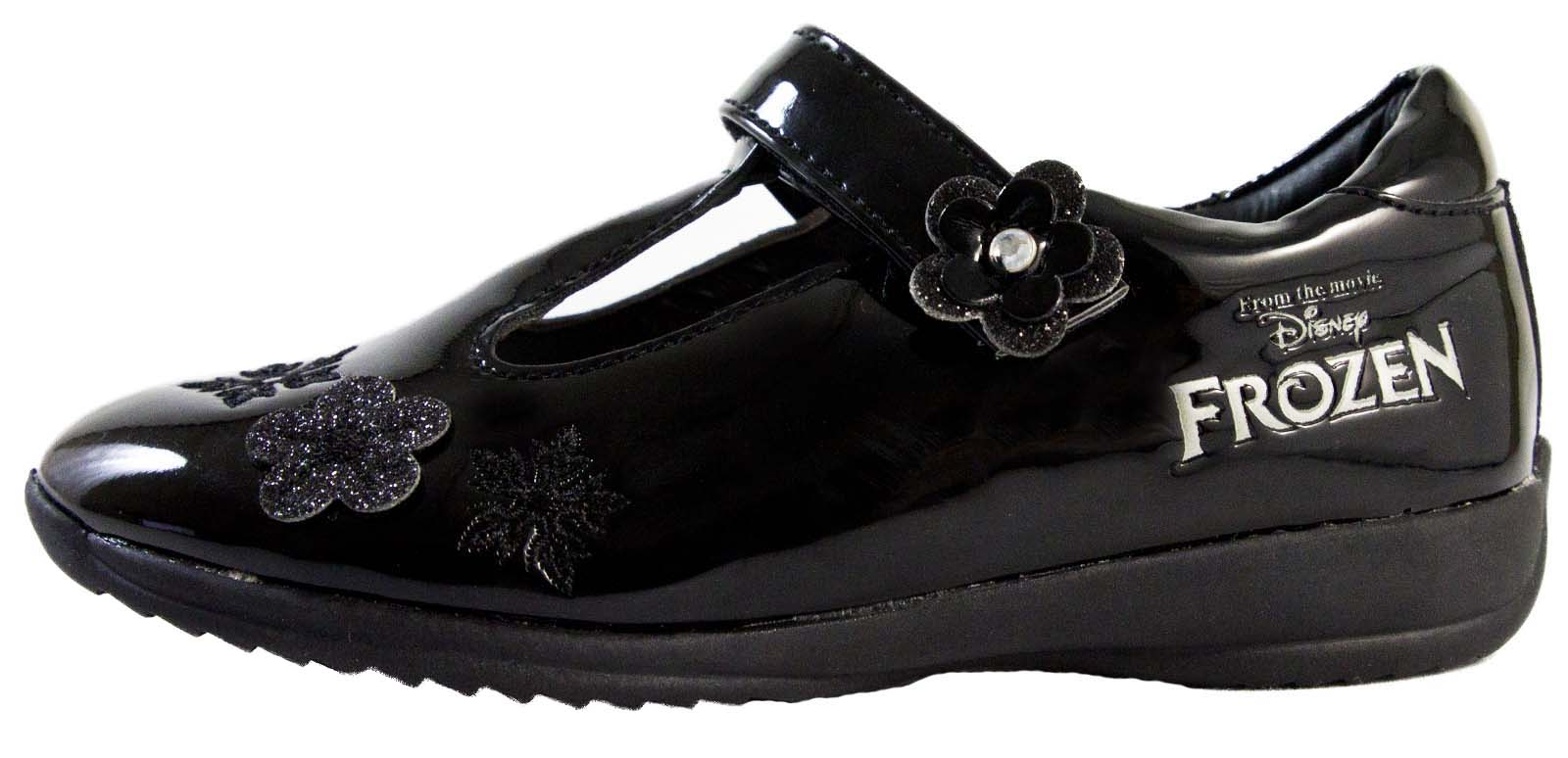 black disney frozen school shoes faux leather t