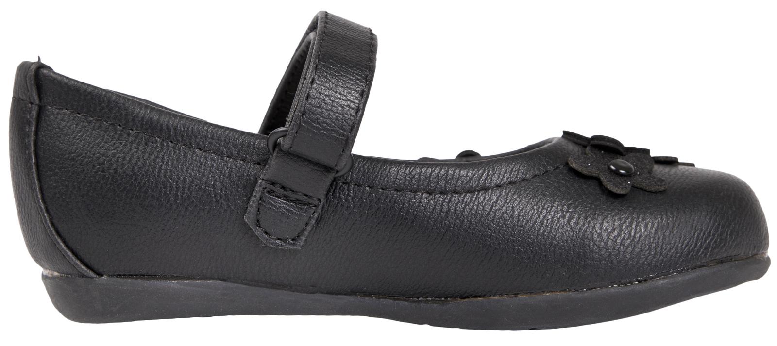 Kids Girls Black Disney Frozen School Shoes Faux Leather T Bar Mary Jane Size