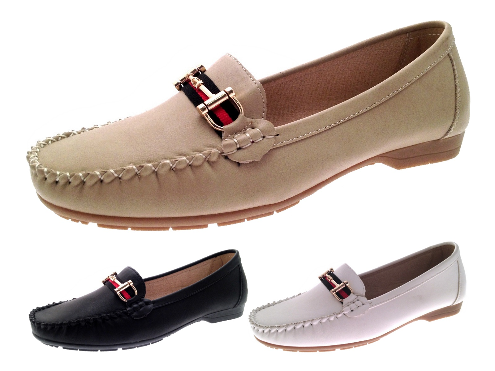 womens faux leather driving comfort shoes moccasins