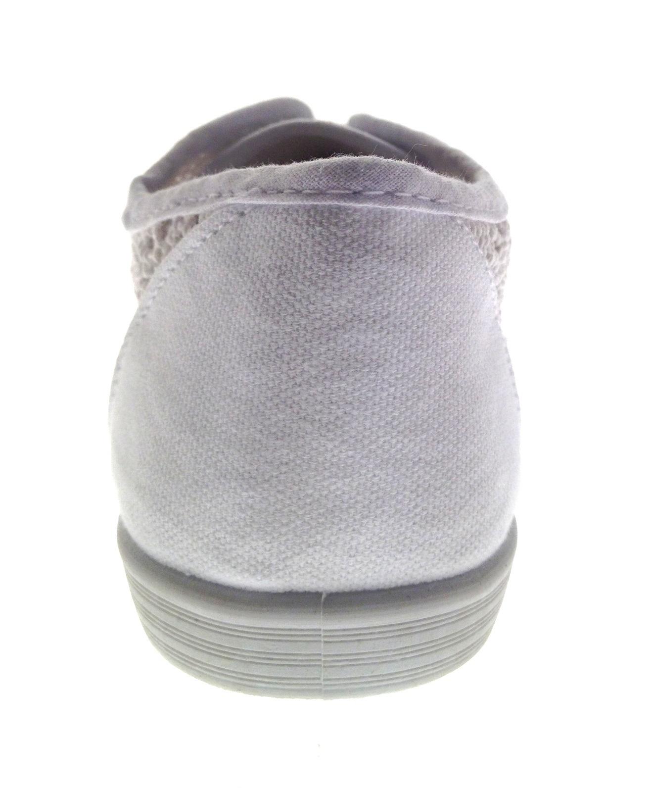 Da Donna Tela Lacci Pompe Crochet Scarpe da ginnastica donna UK 3-8
