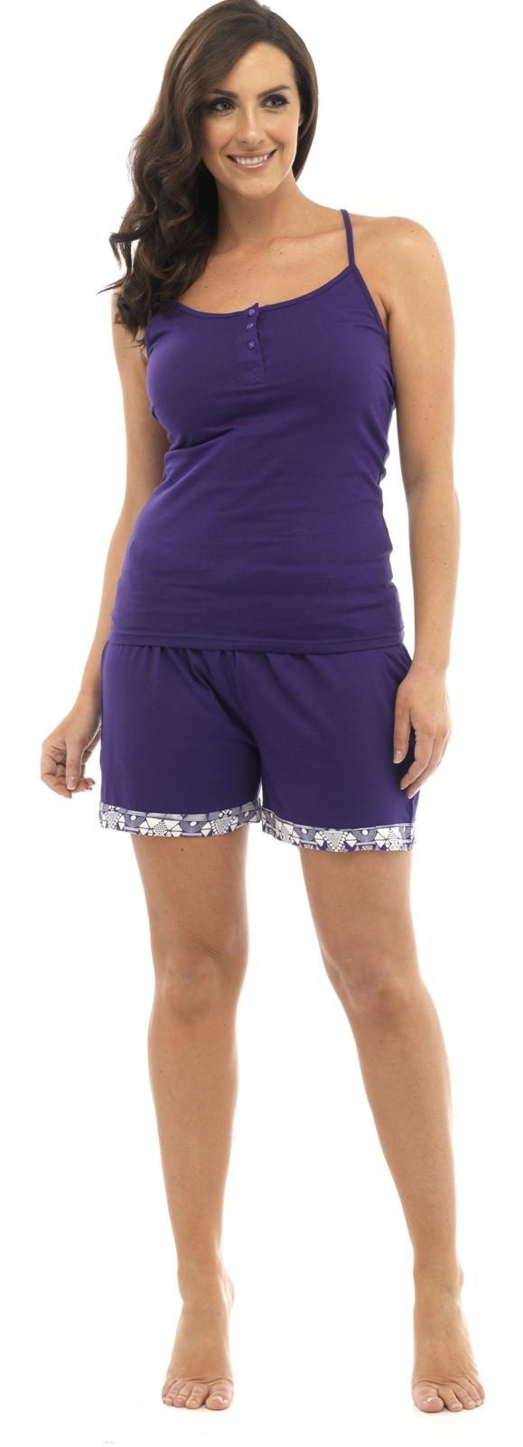 womens pyjamas 2 piece set nightwear vest top shorts. Black Bedroom Furniture Sets. Home Design Ideas