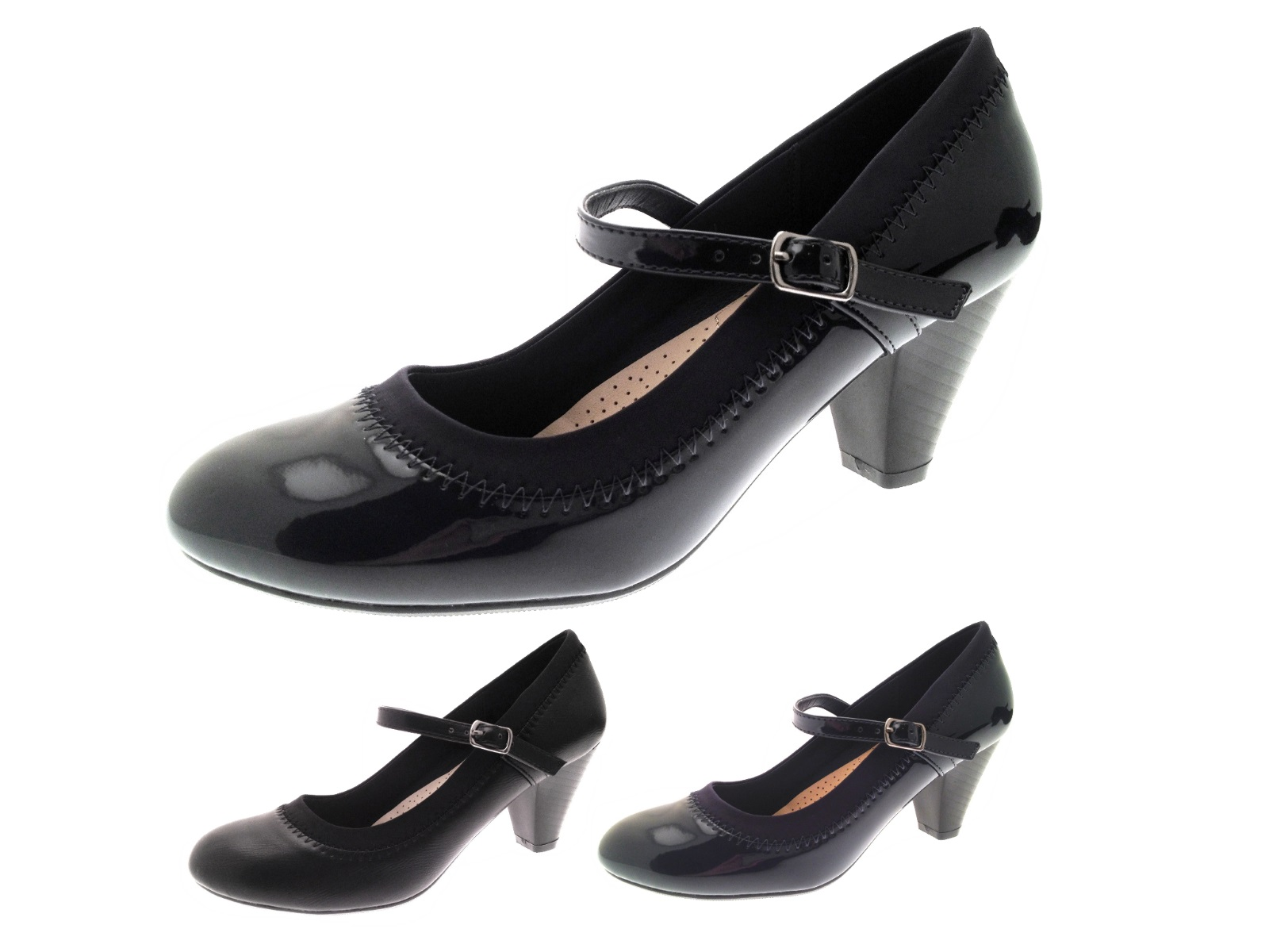 womens mary jane comfort shoes low heel casual work court