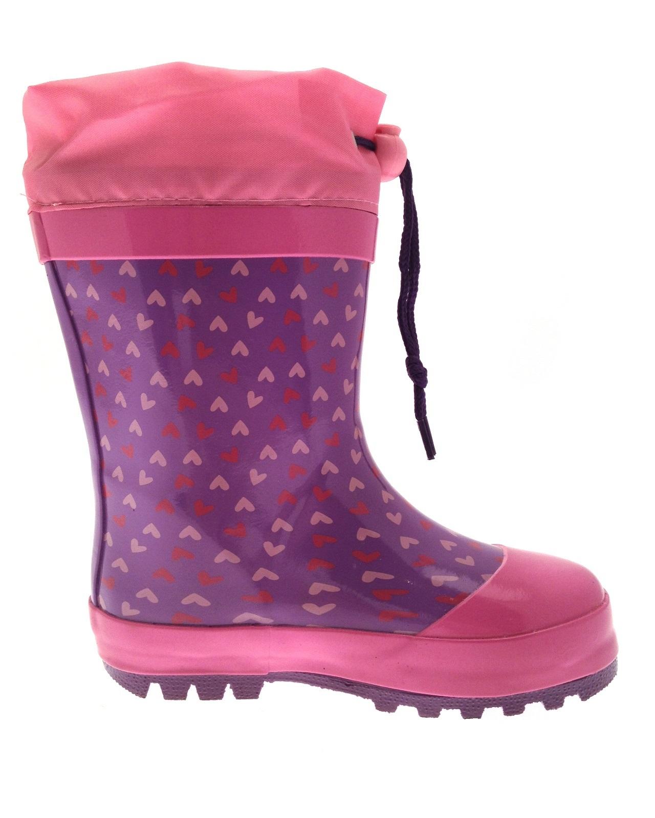 Chicas Disney Princesa Sofia De Goma Snow Botas Tie Top de Wellingtons tamaño del Reino Unido 5-11.5