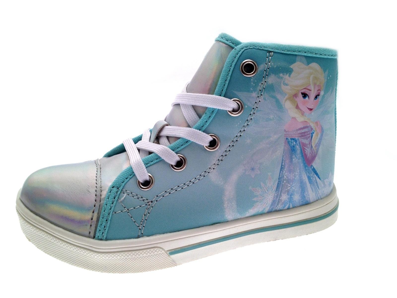 Kids Girls Disney Frozen Lace Up Hi Tops Boots Pumps ...