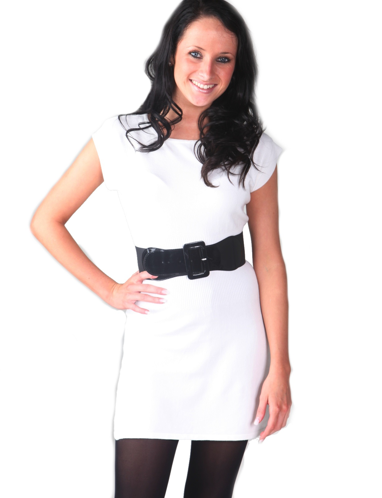 femme robe pull en mailles ceinture hiver moulante pull haut tunique taille ebay. Black Bedroom Furniture Sets. Home Design Ideas