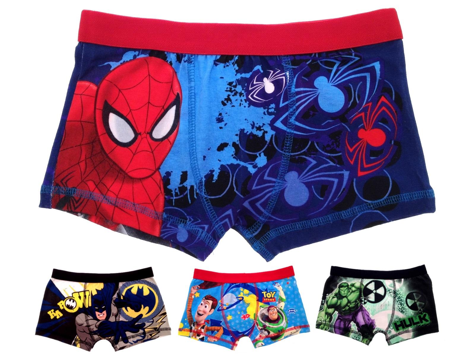 Ni os chicos car cter oficial boxer shorts ropa interior for Ropa interior para ninos