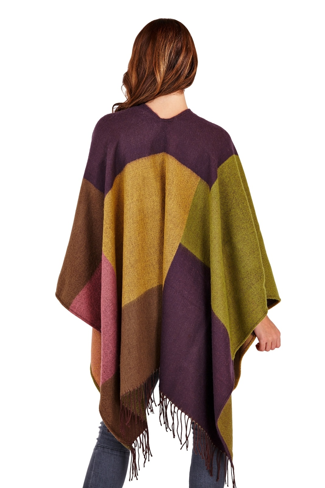 womens warm winter poncho wrap knitted shawl throw cape