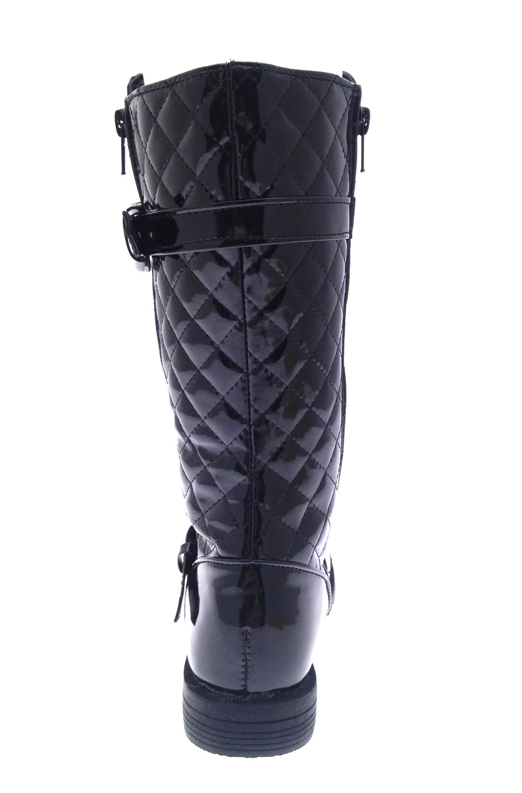 womens quilted knee high biker boots