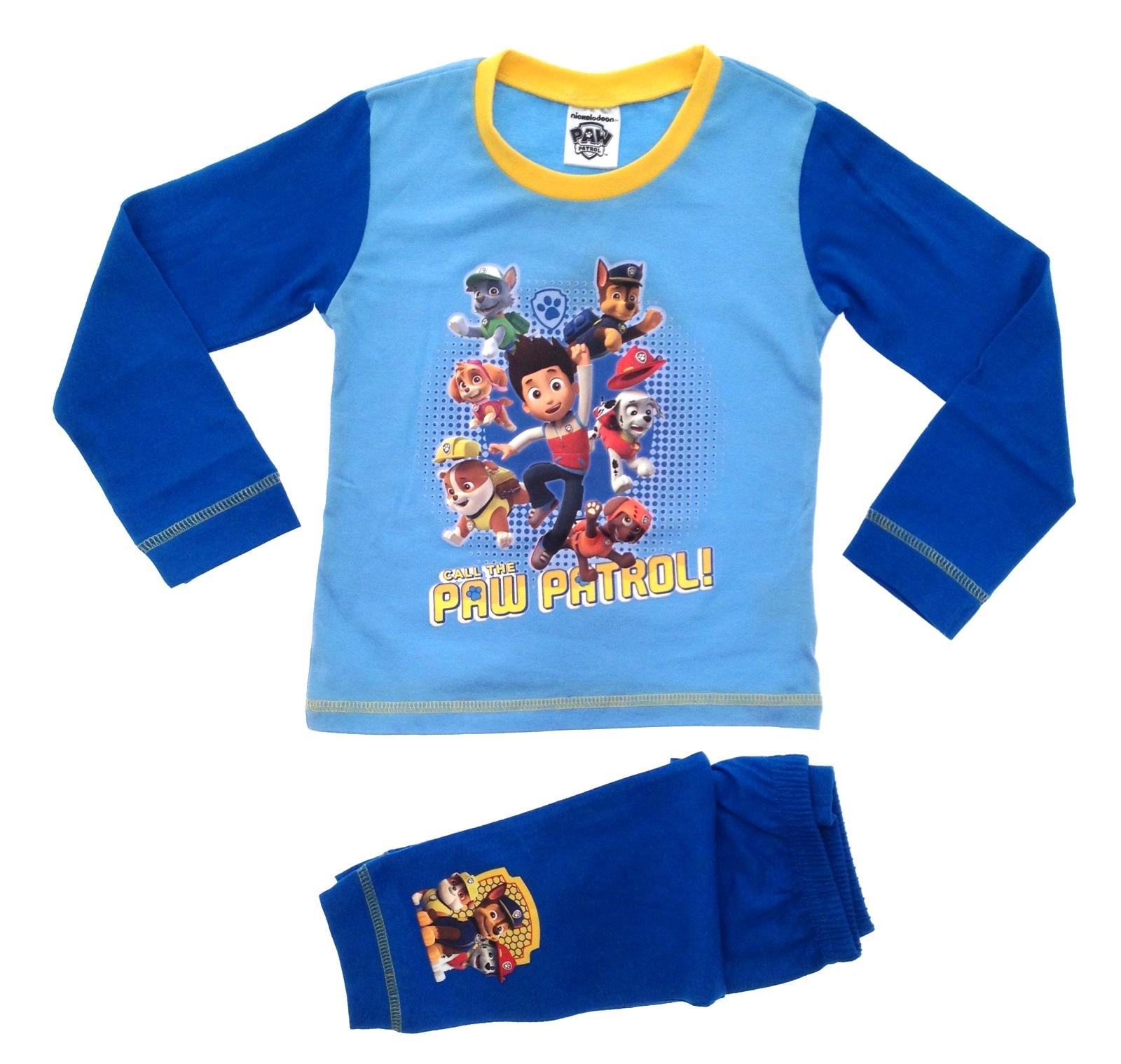 Kids Boys Girls Nickelodeon Paw Patrol Pyjamas 2 Piece Long PJ's ...