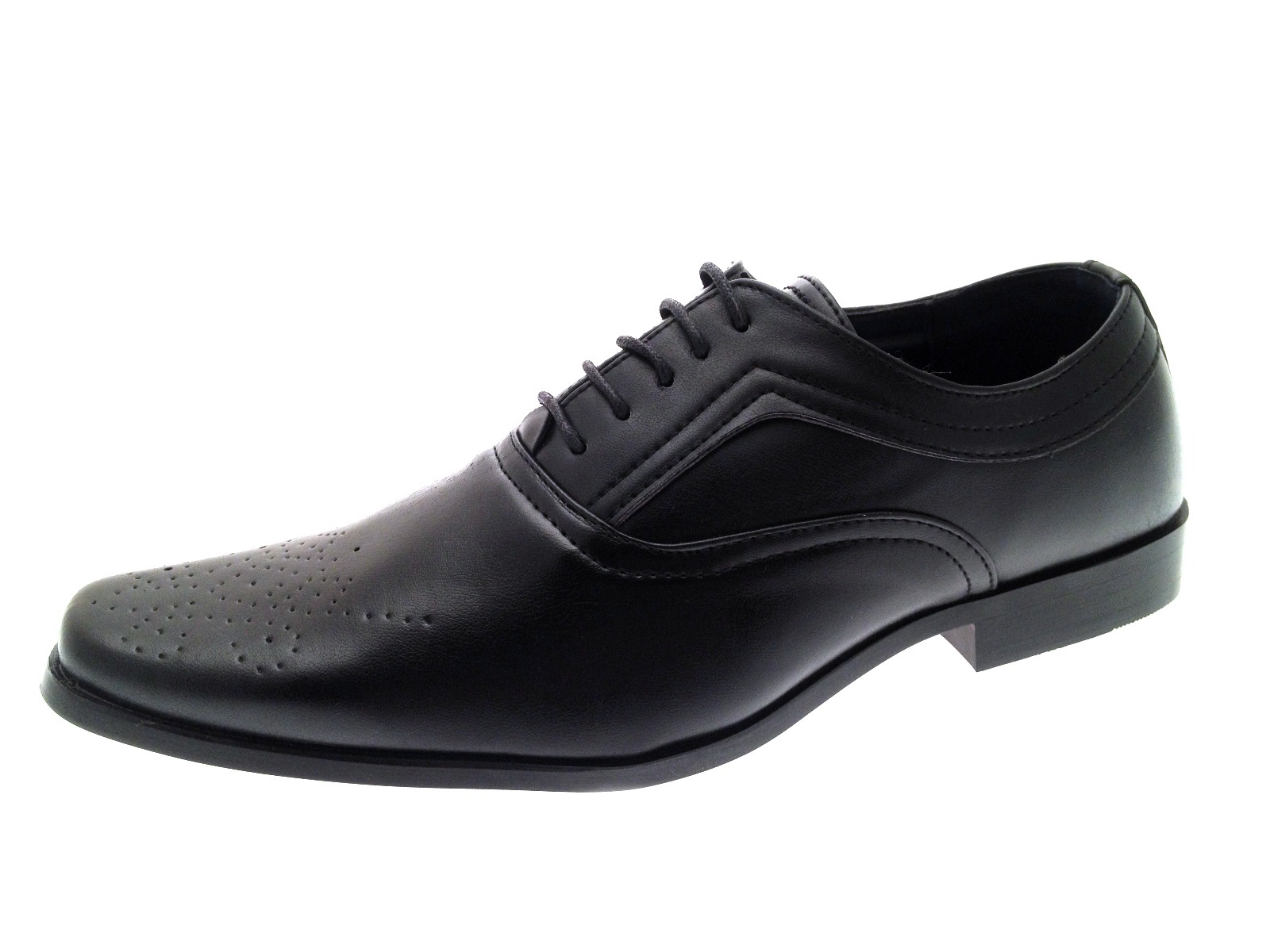 Mens Boys Faux Leather Formal Shoes Work Office School Comfort Shoe Wedding Size | EBay