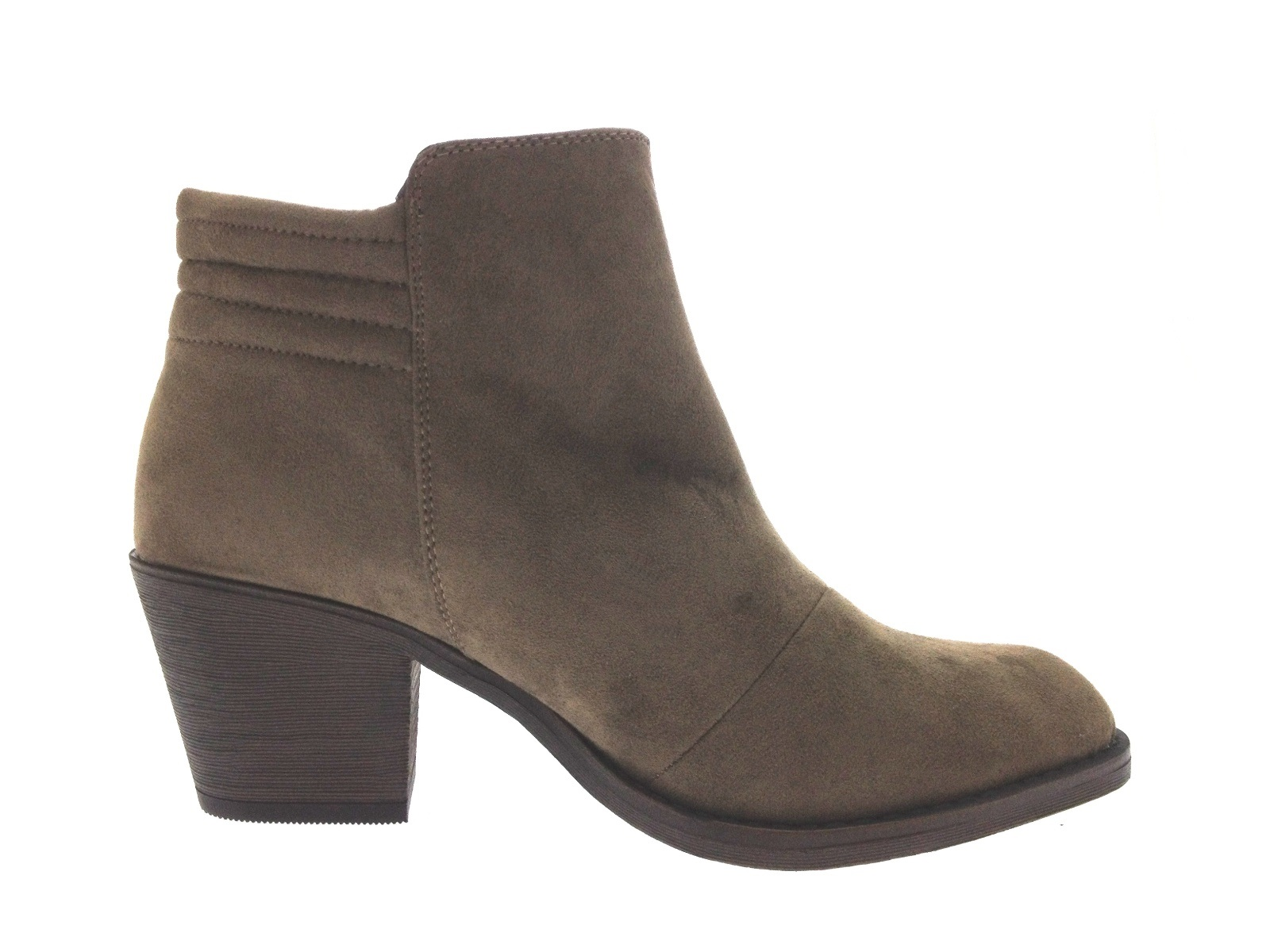 Womens Chelsea Biker Ankle Boots Block Heels Faux Leather Shoes ...