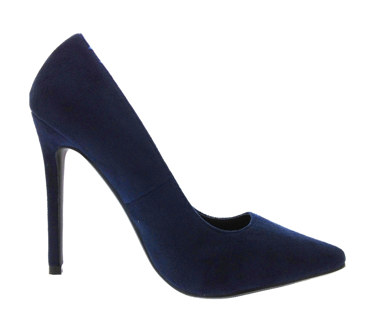Ladies Navy High Heeled Shoes