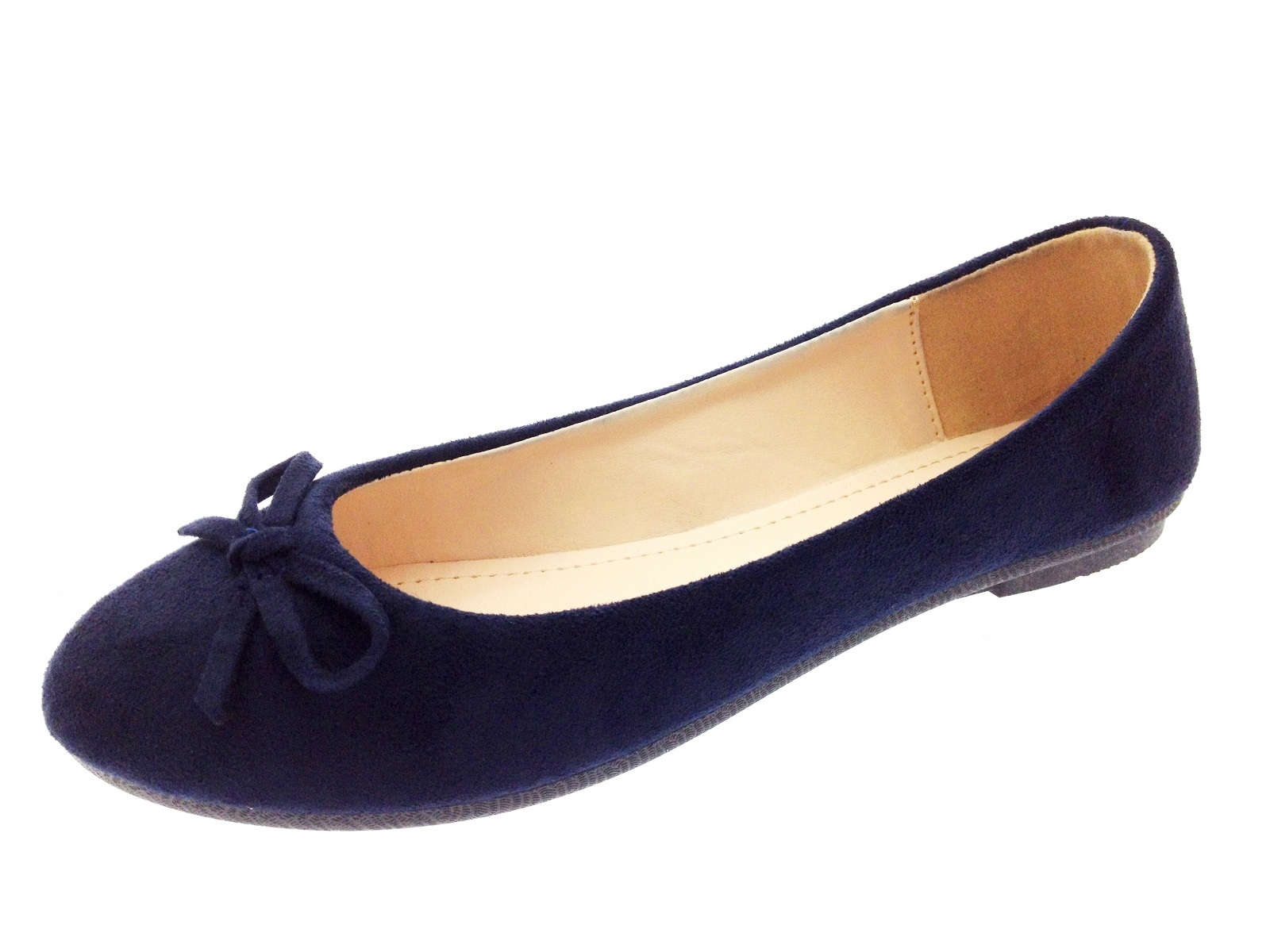 Womens Faux Suede Dolly Ballet Pumps Flat Casual Loafers Dolly Shoes Size UK 3-8 | EBay