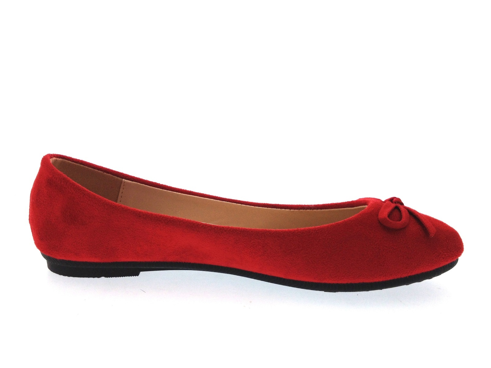 6e12c367f88b5 Womens Faux Suede Dolly Ballet Pumps Flat Casual Loafers Dolly Shoes ...