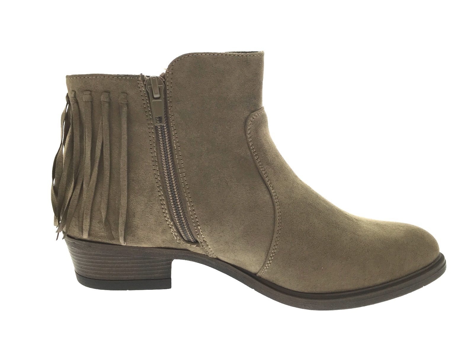 New Womenu0026#39;s Suede Chunky Heel Ankle Boots With Tassel Shoes (088091724) - Boots - JJsHouse
