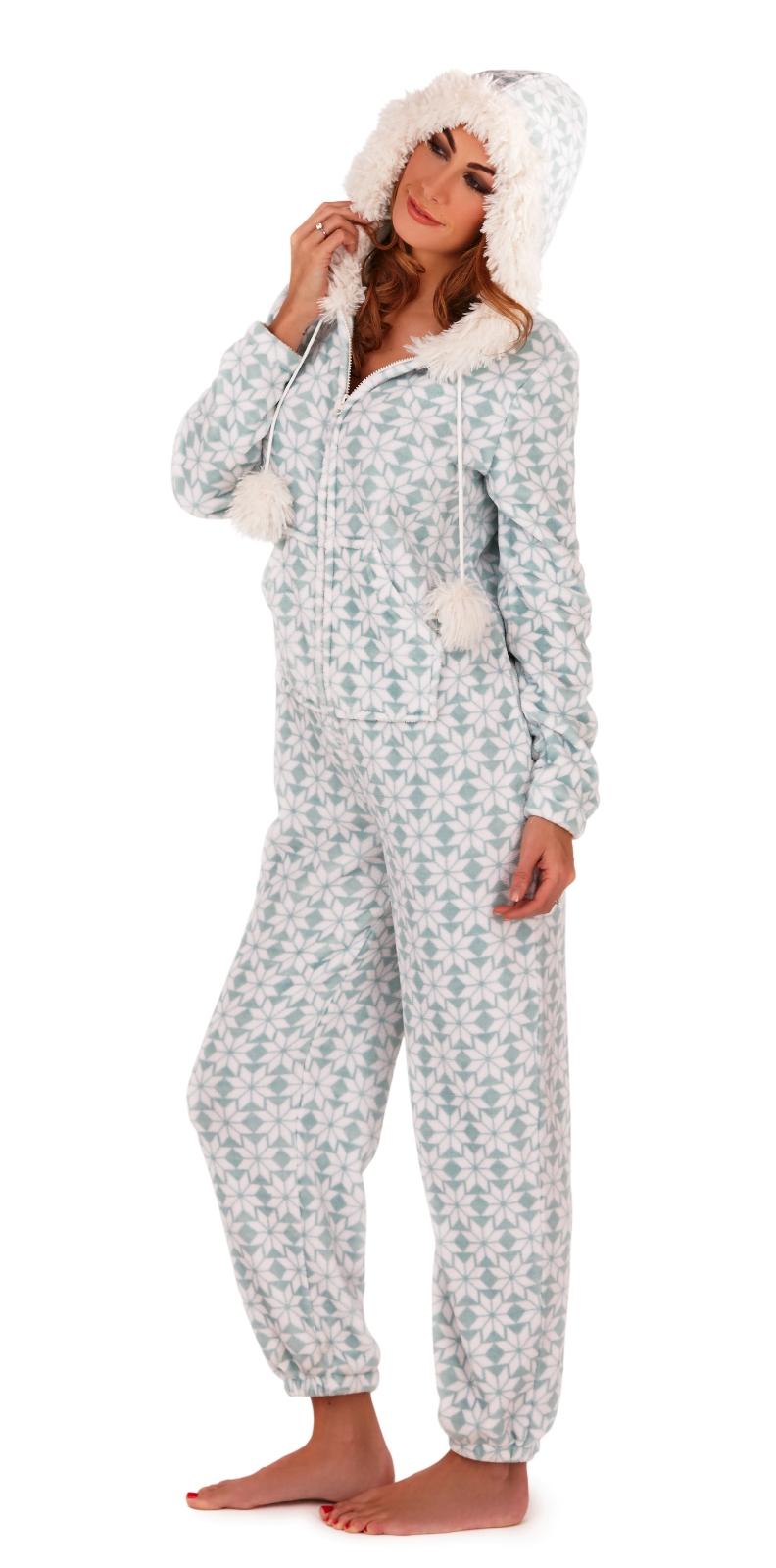 Elegant Womens Luxury Onesie Hooded All In One Pyjamas Pjs Jumpsuit Ladies Size UK 6u201316 | EBay