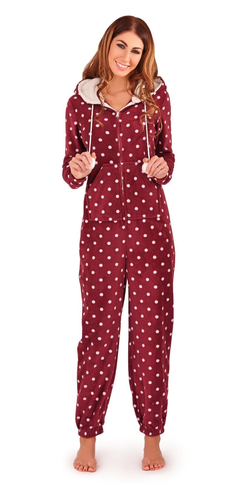 Womens Luxury Onesie All In One Hooded Pyjamas Pjs ...