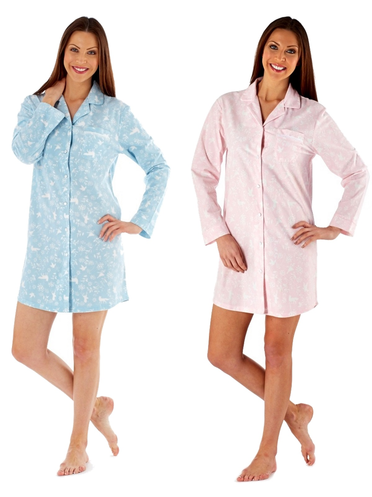 Womens Fleece Nightdress Nightshirt Nighty Nursing Pyjamas Ladies Size UK  10-20 3f743841a