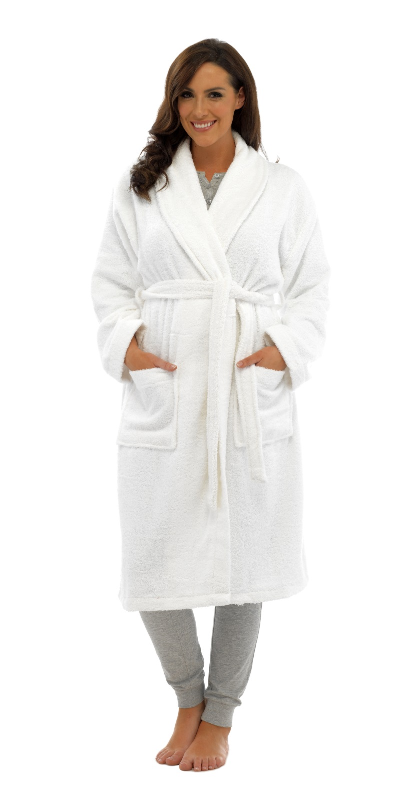 Womens Pure 100 Cotton Luxury Towelling Bath Robes