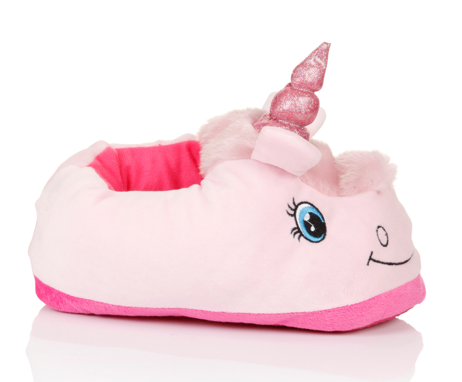 womens novelty 3d character plush unicorn slippers ladies. Black Bedroom Furniture Sets. Home Design Ideas