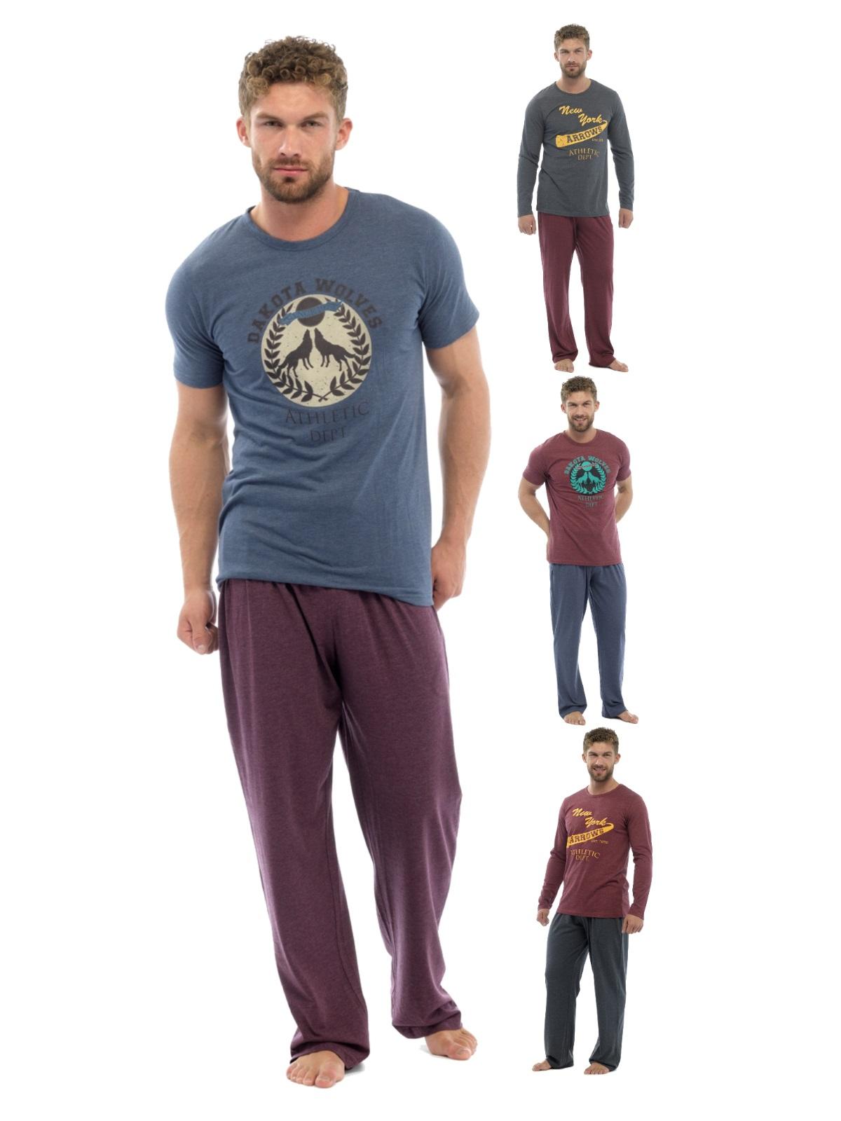 Luxury Mens Long Pyjamas 2 Piece Lounge Set Gents Nightwear Boys Pjs Size M,XXL