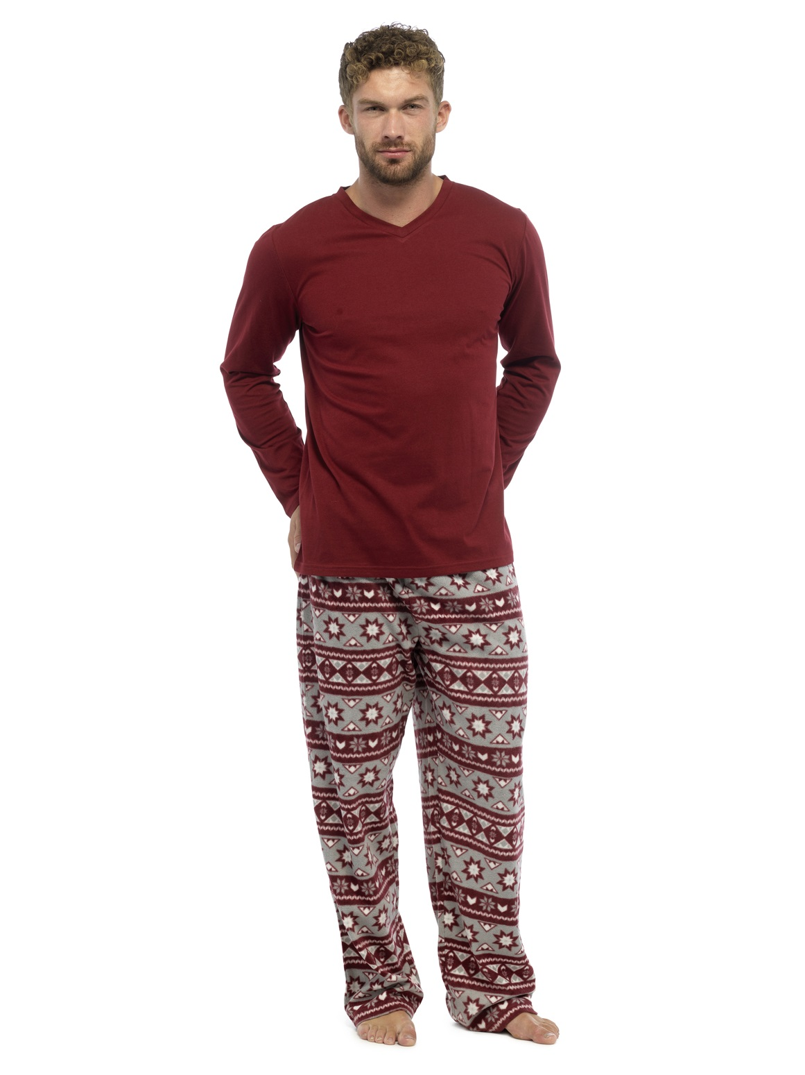 Mens 2 Piece Luxury Full Length Pyjamas Set Gents Boys Pjs Pj's Gift ...