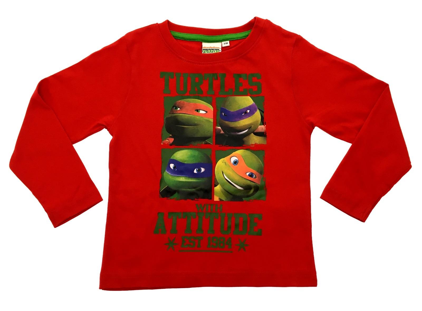 Boys long sleeve teenage mutant ninja turtles t shirt kids for What size shirt for 8 year old boy