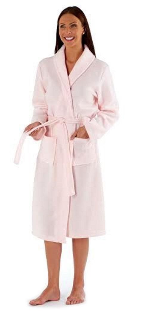 Ladies Full Length Polar Fleece Dressing Robes Womens Long Bath Robe ...