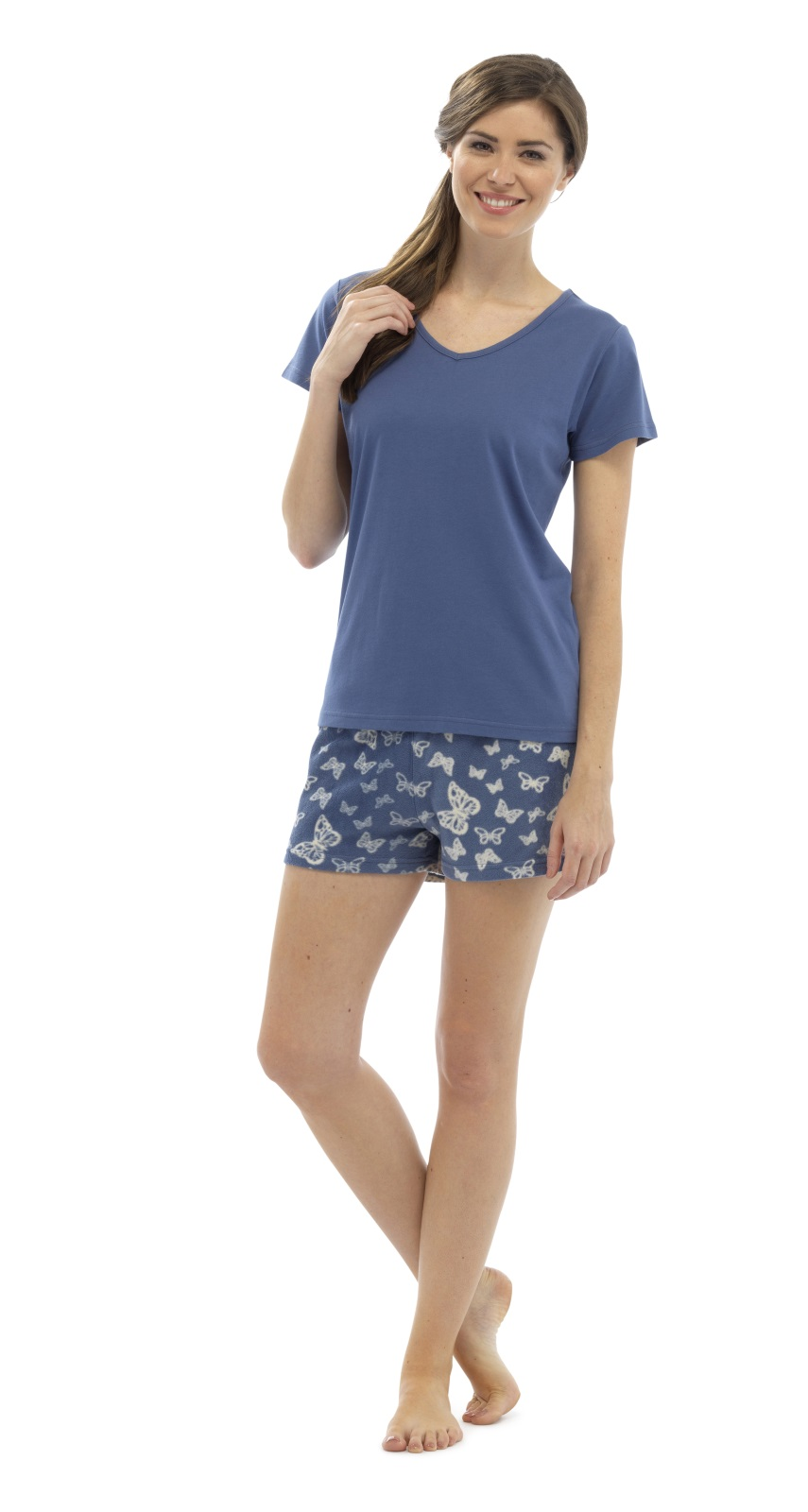 womens short pyjamas 2 piece set nightwear t shirt
