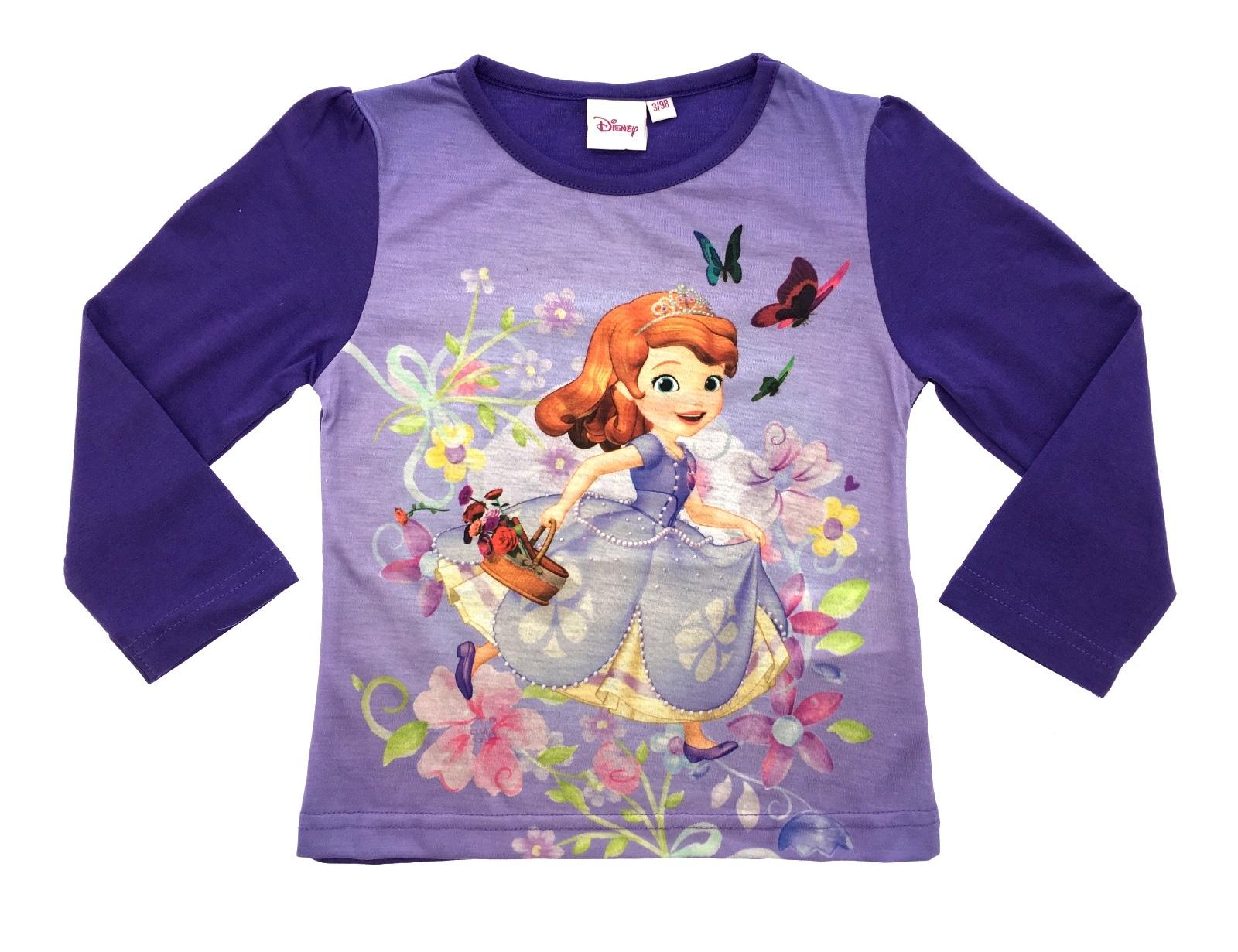 Disney princess sofia 100 cotton long sleeve t shirt for Best shirts for girls