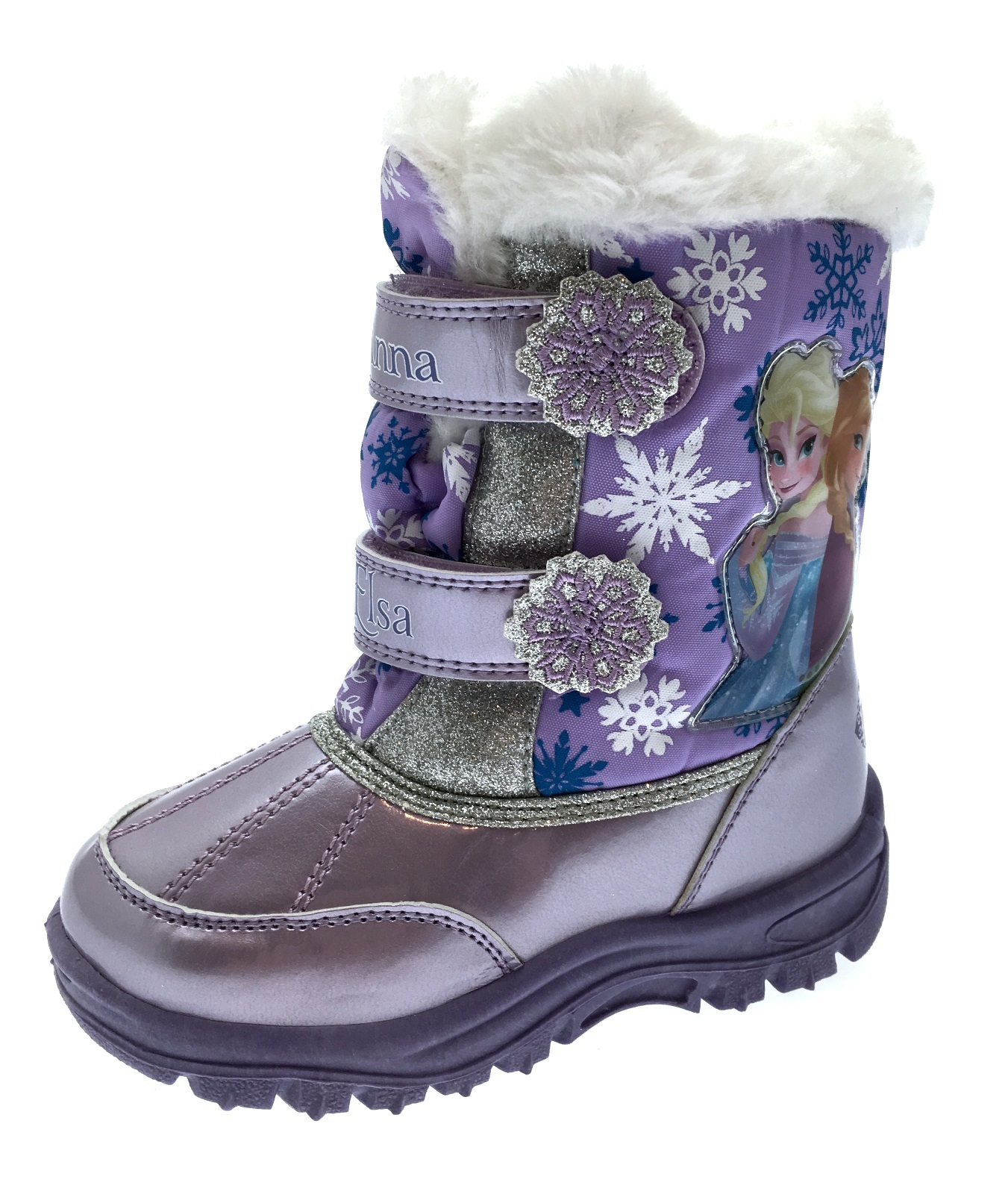Girls Disney Frozen Elsa Anna Snow Boots Kids Waterproof