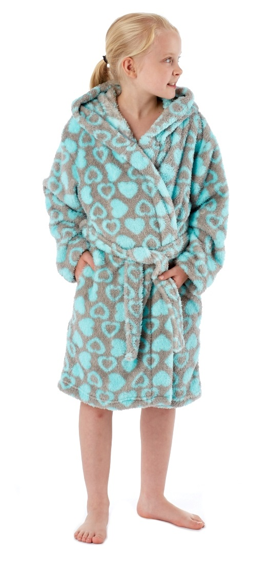 Kids Girls Luxury Novelty Fleece Dressing Gown Bath Robe Xmas Gift ...