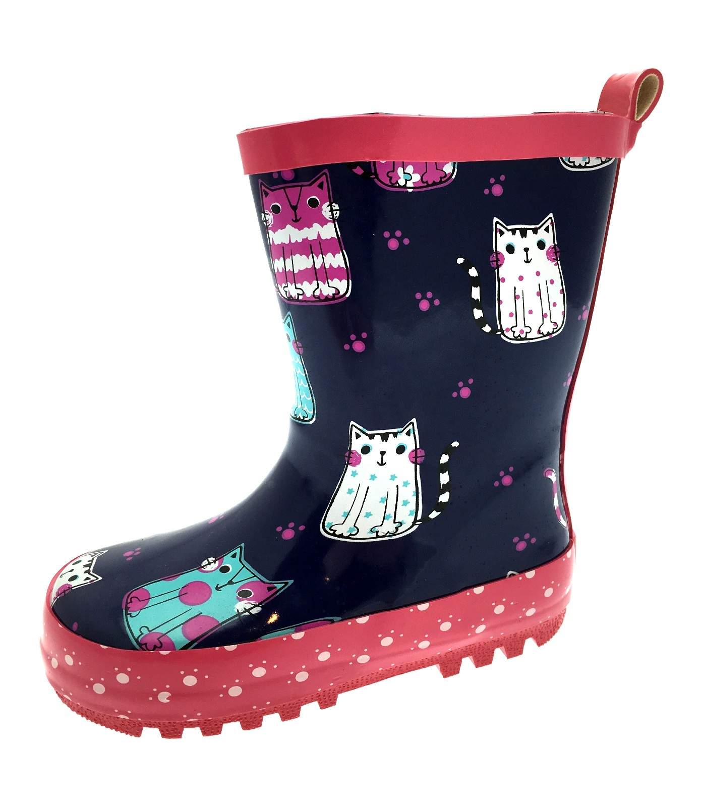 Kids Girls Wellies Wellys Wellington Rain Snow Boots