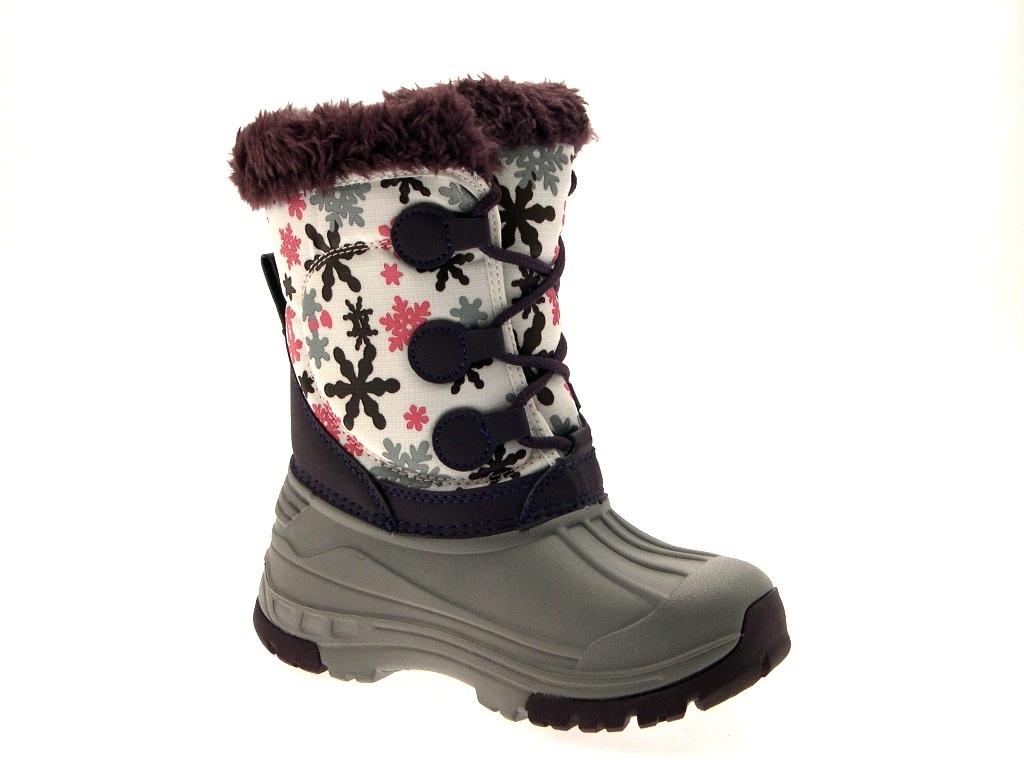 Hi Tec Kids Girls Waterproof Snow Boots Warm Winter Flat ...