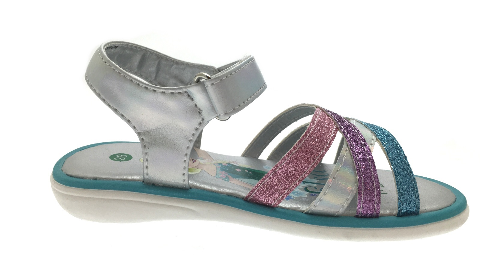 Girls Frozen Elsa Anna Flat Glitter Sports Sandals Kids