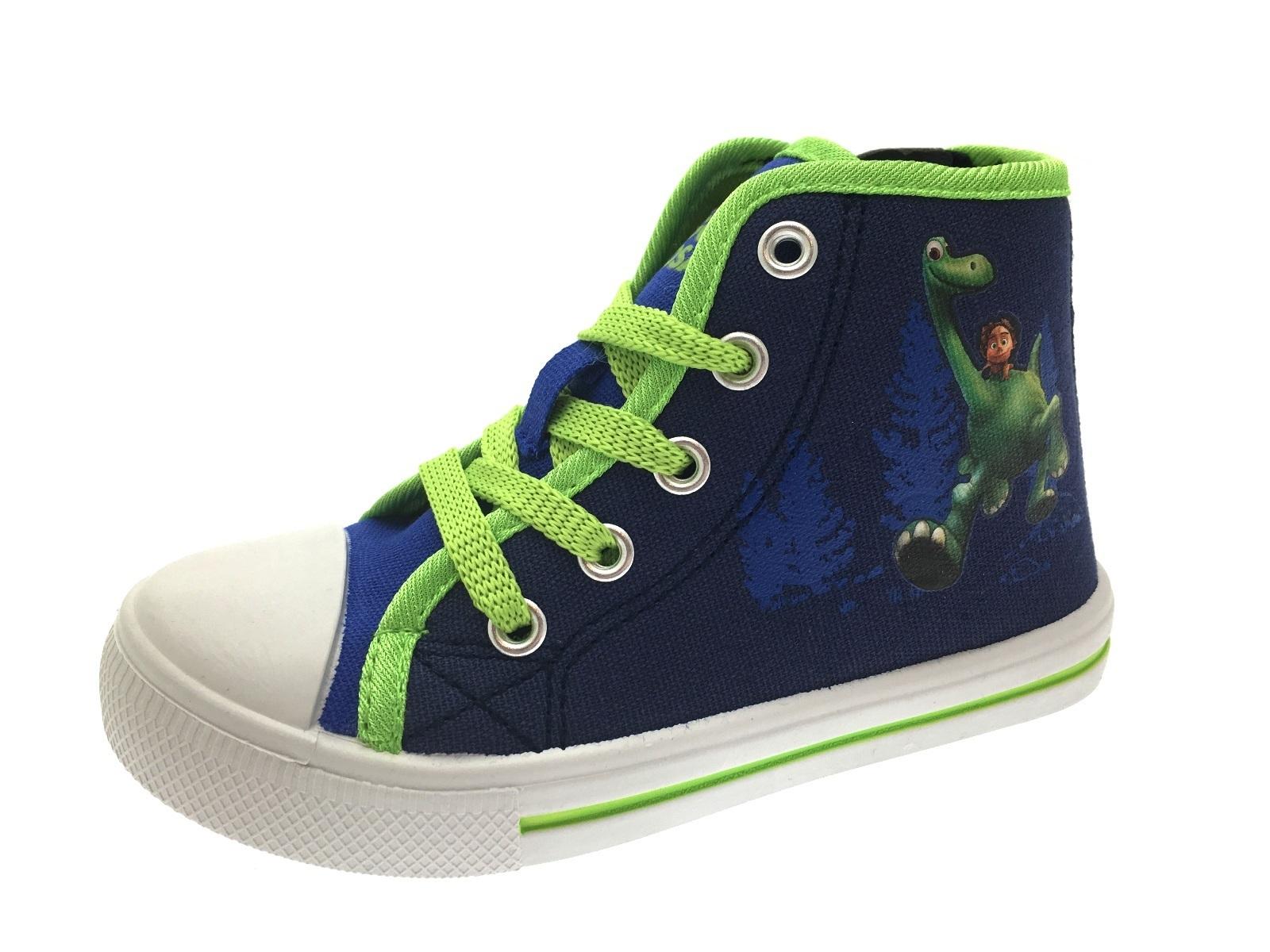 Boys The Good Dinosaur Shoes Hi Top Trainers Sports Sandals Canvas Pumps Size