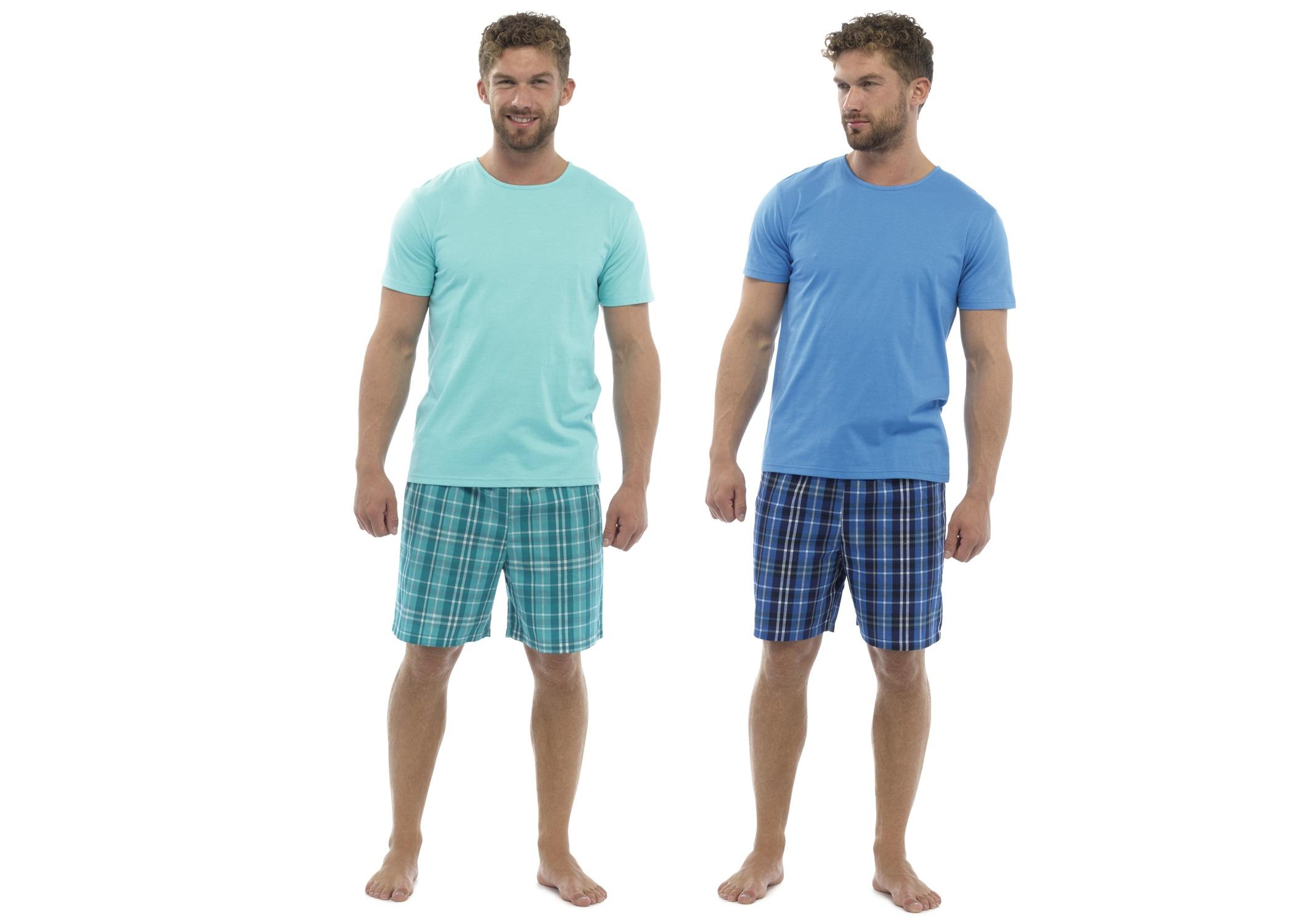 Mens short sleeve pyjamas summer t shirt shorts set T shirt and shorts pyjamas