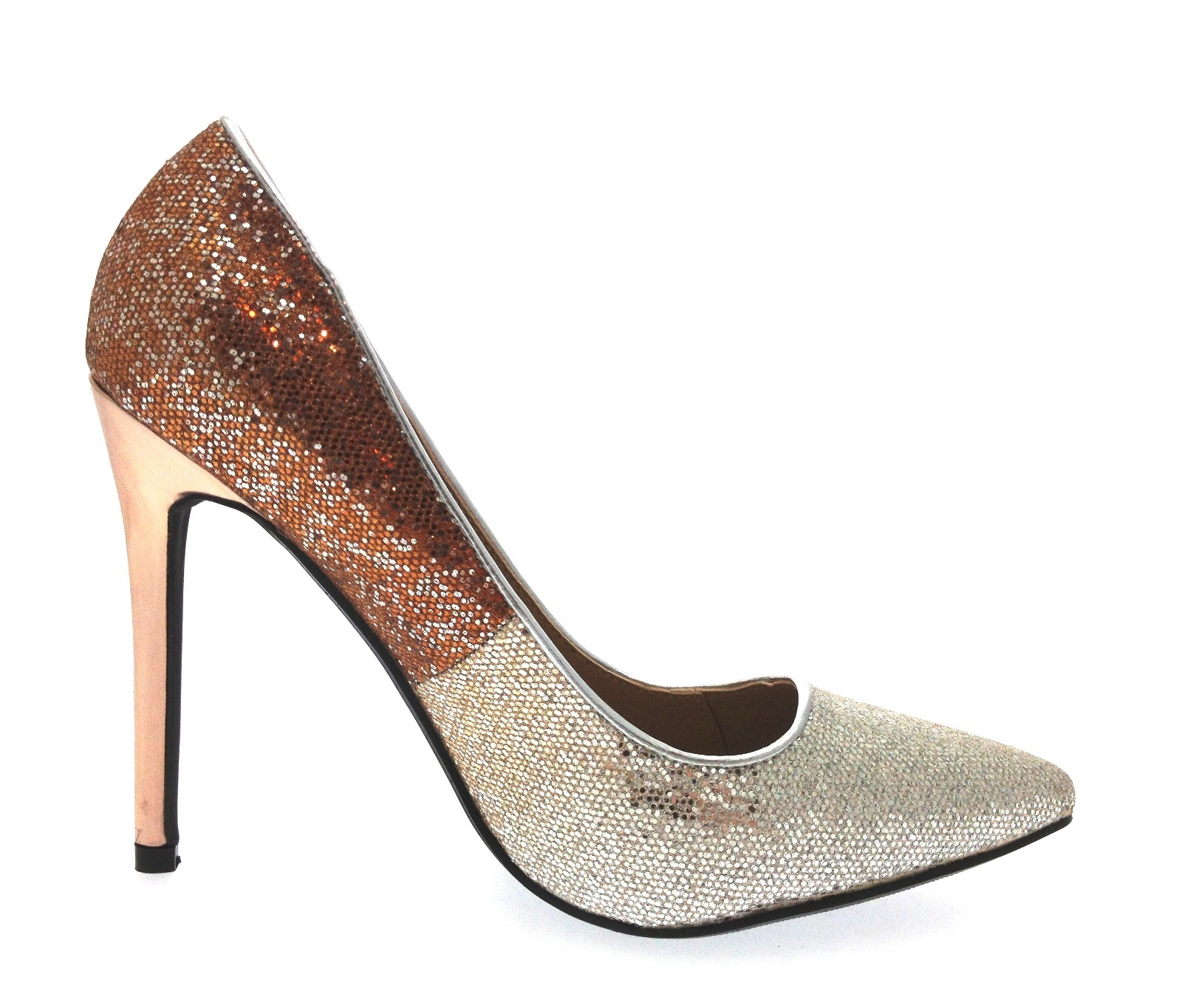 clearance recommend eastbay for sale Silver glittered high stiletto heel court shoes online cheap M2lvBNmb