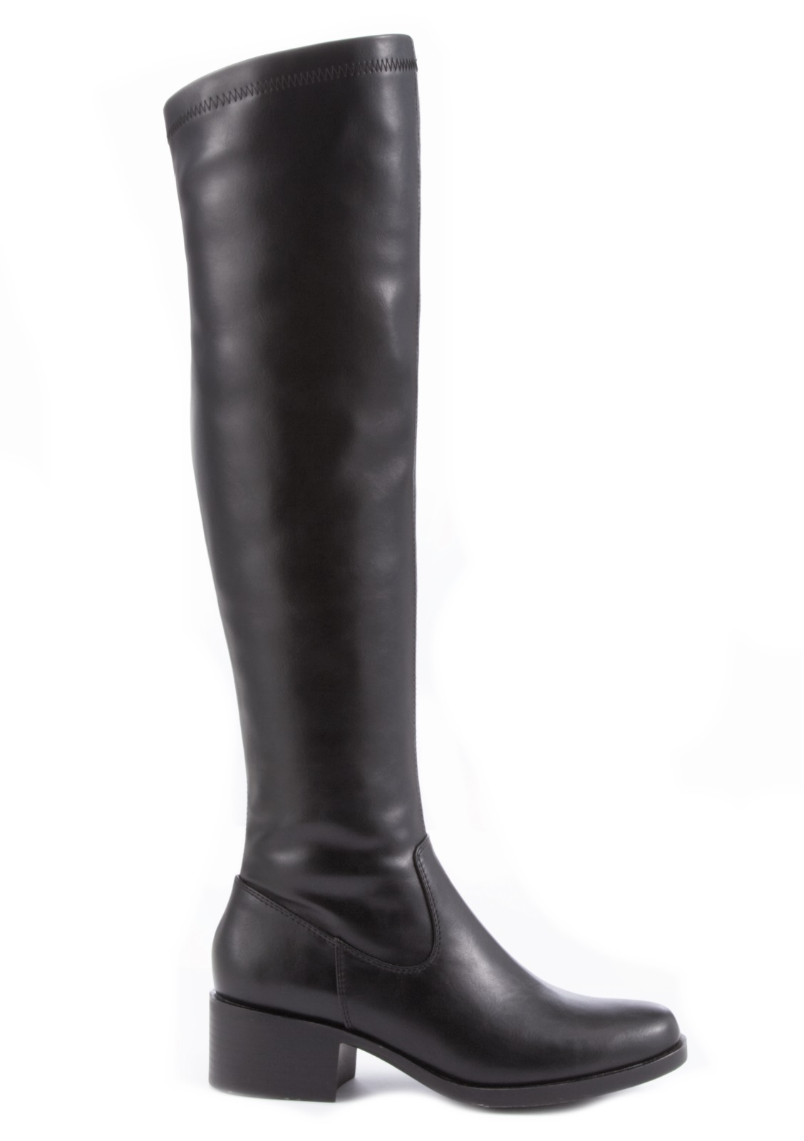 womens faux leather thigh high boots knee high