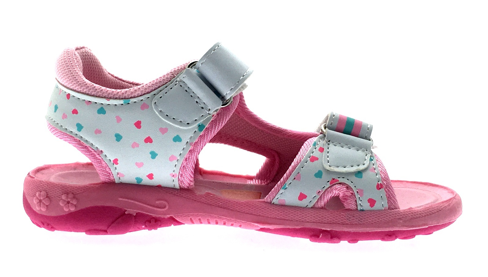 girls peppa pig sandals fully adjustable straps in pink kids comfort shoes size ebay. Black Bedroom Furniture Sets. Home Design Ideas