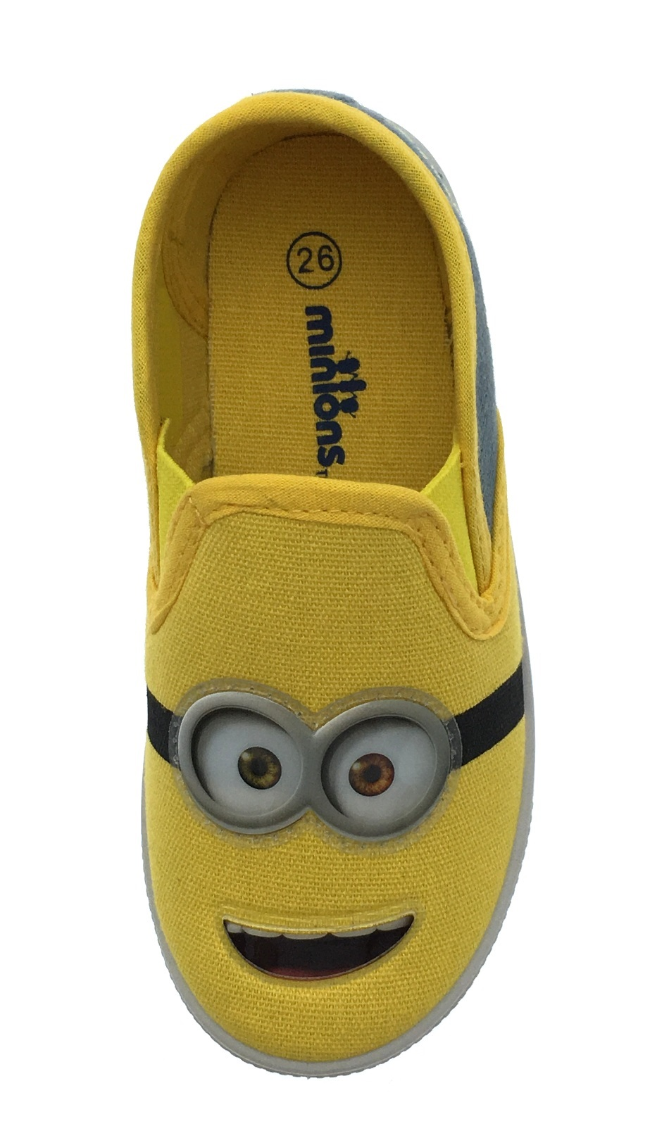 Boys Minions Canvas Pumps Flat Casual Shoes Trainers From Despicable Me Kids