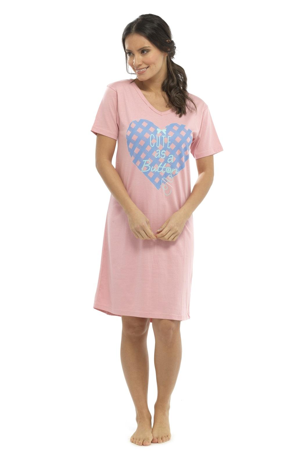 Womens long short sleeve nightdress t shirt slogan for Short sleeve t shirts with longer sleeves