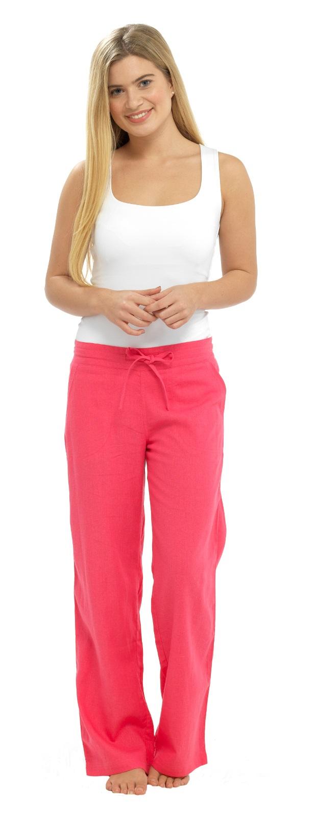 Elegant Elastic Waist Cotton Linen Women Harem Pants Solid Yellow Red Gray Casual Summer Pants Capri ...