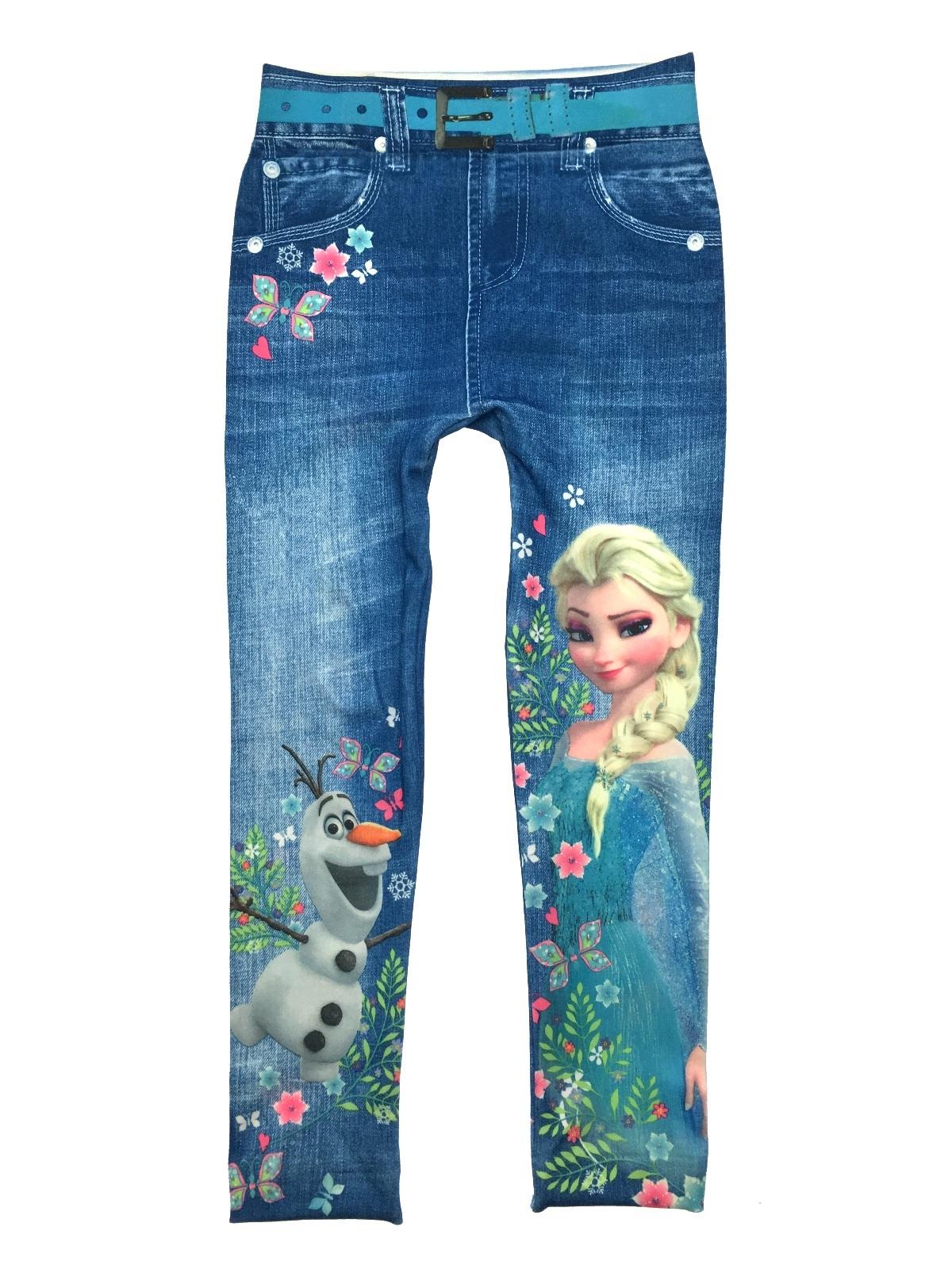 Girls-Character-Leggings-Skinny-Jeggings-Summer-Trousers-Pants- - Girls Character Leggings Skinny Jeggings Summer Trousers Pants