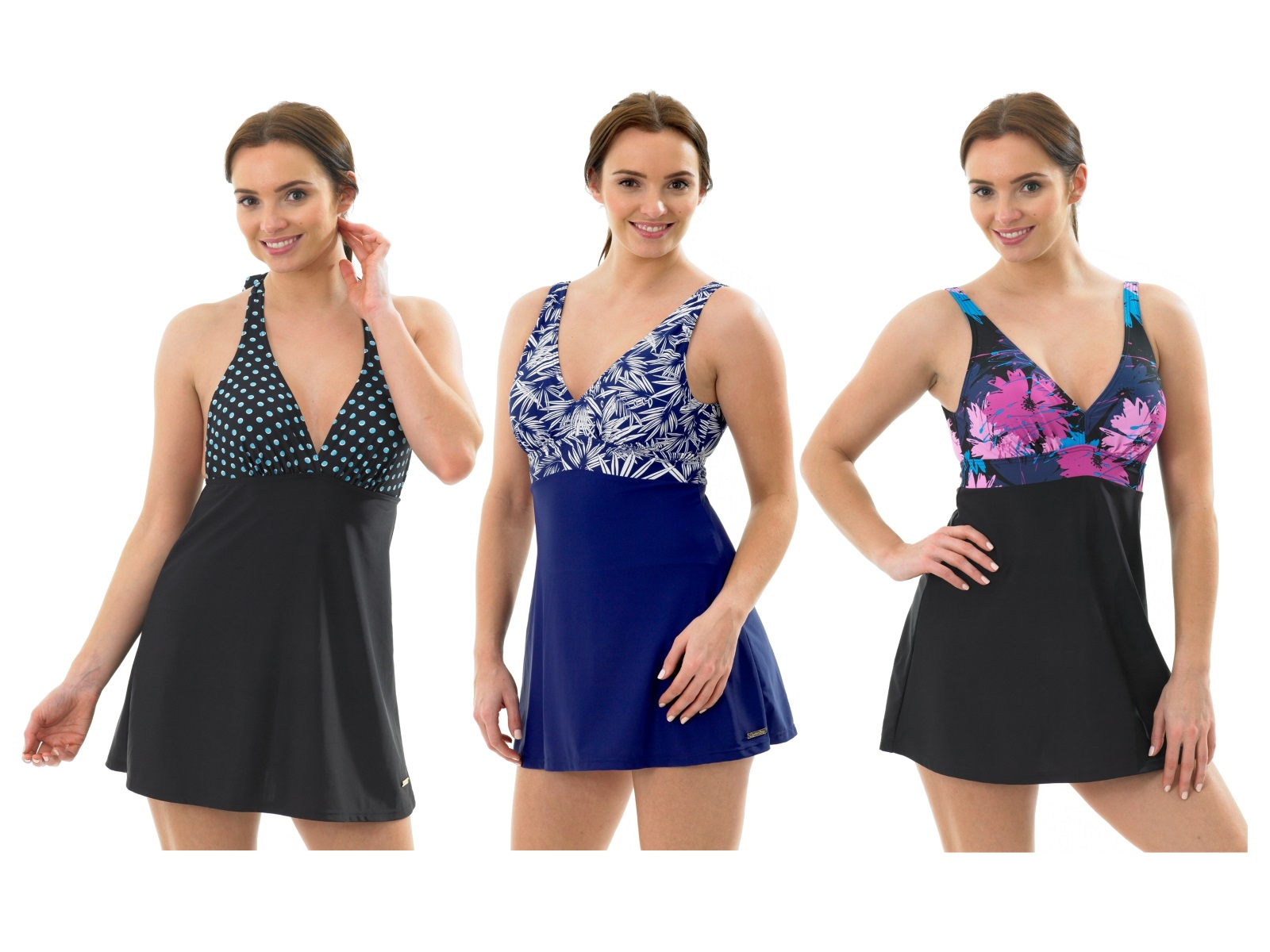 womens swimdress swimming costume skirt cover up tummy