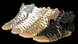 LADIES-FLAT-SANDALS-WOMENS-GLADIATOR-SHOES-SIZE-3-8