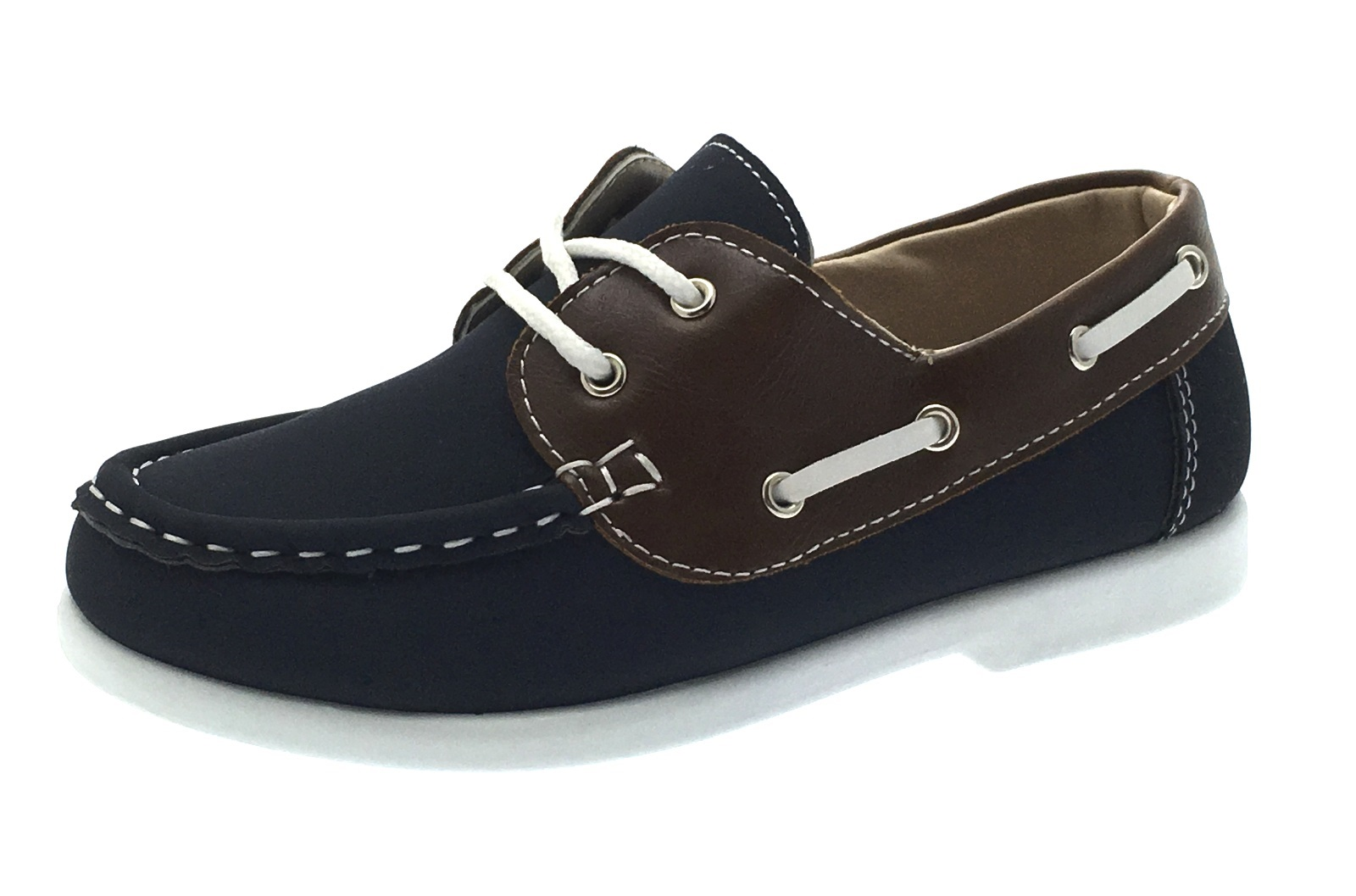 Boys Boat Deck Shoes Slip On Lace Up Loafers Casual Moccasins Party Kids Size | EBay