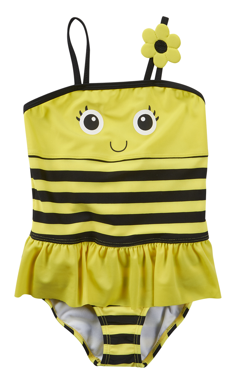 Cute Baby Girls Novelty Character Swimming Costume ...